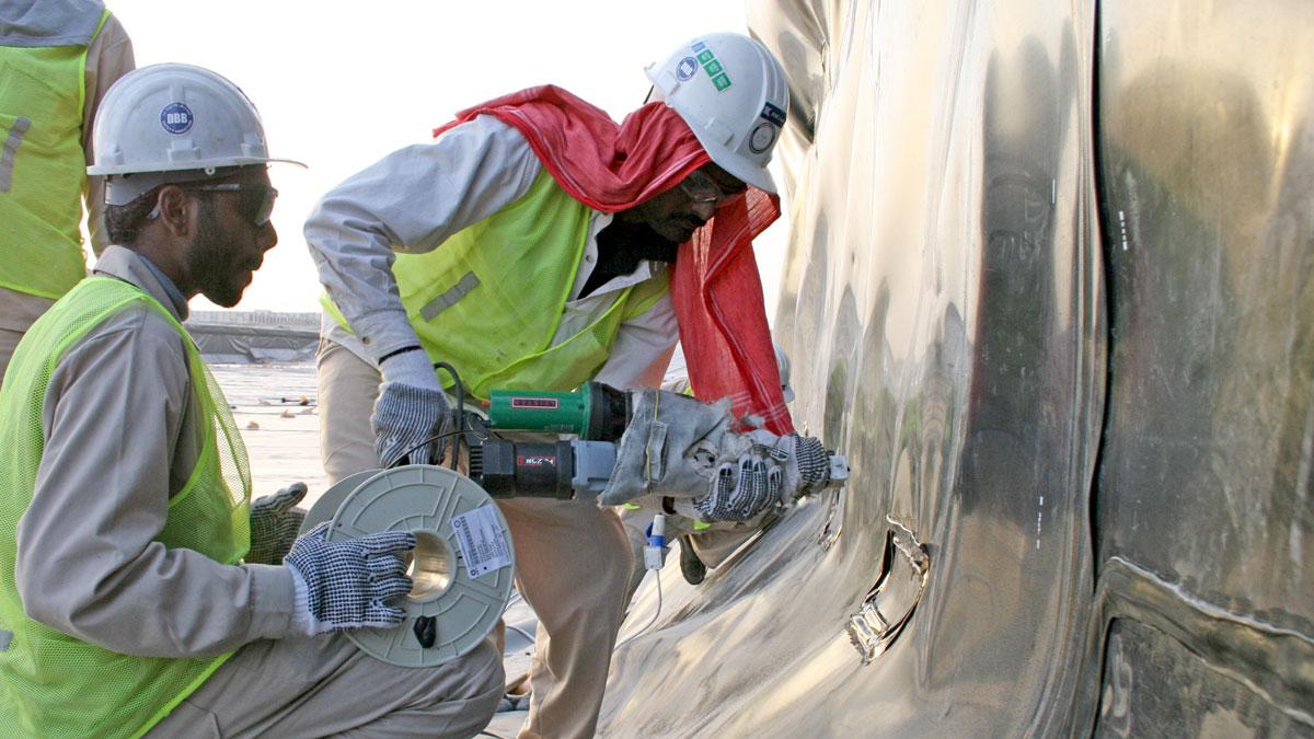 Welding Of Lining Systems Bmc Gulf Dubai Abu Dhabi Uae